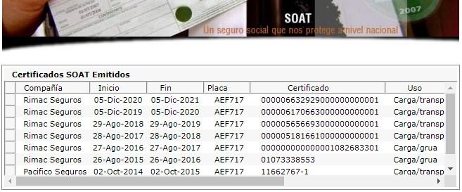 Consulta SOAT gratis en linea