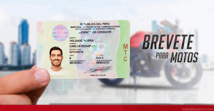 Como sacar la licencia de conducir moto en Perú